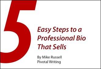E-Book cover - 5 Easy Steps to a Professional Bio That Sells